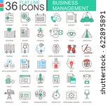 business management modern... | Shutterstock . vector #622895891