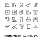 hotel. set of outline vector... | Shutterstock .eps vector #622902197