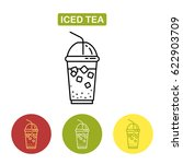 ice tea icon. plastic cup dome... | Shutterstock .eps vector #622903709