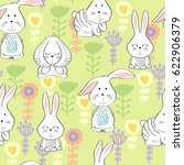 vector seamless pattern with... | Shutterstock .eps vector #622906379