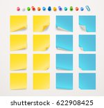 different color paper stickers... | Shutterstock .eps vector #622908425