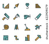 vector flat construction icons... | Shutterstock .eps vector #622909079