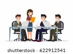 business people. cartoon flat... | Shutterstock .eps vector #622912541