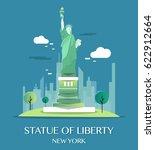 statue of liberty.vector...   Shutterstock .eps vector #622912664