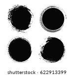 grunge circles set.distress... | Shutterstock .eps vector #622913399
