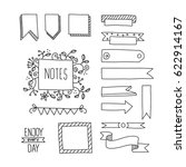 collection of handdrawn borders ... | Shutterstock .eps vector #622914167