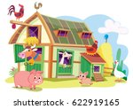 farm animals | Shutterstock .eps vector #622919165
