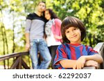 beautiful scene of young happy... | Shutterstock . vector #62292037