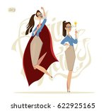 business woman characters.... | Shutterstock .eps vector #622925165