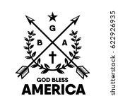 God Bless America.  Vector....