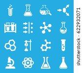 scientific icons set. set of 16 ... | Shutterstock .eps vector #622932071