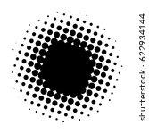halftone circle  vector... | Shutterstock .eps vector #622934144