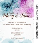 wedding invitation template...   Shutterstock .eps vector #622942484