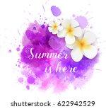 purple watercolor splash with... | Shutterstock .eps vector #622942529