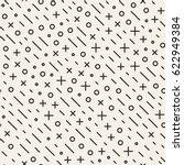 retro geometric line shapes... | Shutterstock .eps vector #622949384