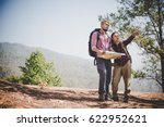 young tourist couple traveling... | Shutterstock . vector #622952621