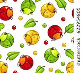 cute seamless pattern with... | Shutterstock .eps vector #622954805