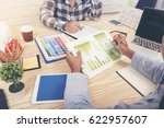 marketing team collaboration... | Shutterstock . vector #622957607