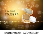 elegant gold powder isolated on ... | Shutterstock .eps vector #622958039