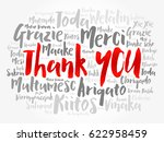 thank you word cloud background ... | Shutterstock .eps vector #622958459