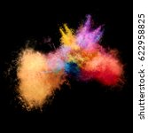 amazing explosion of powder on... | Shutterstock . vector #622958825