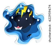 abstract of little paper boat... | Shutterstock .eps vector #622959674