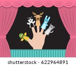 puppet theater for finger toys... | Shutterstock .eps vector #622964891