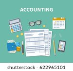 accounting concept. tax day.... | Shutterstock . vector #622965101