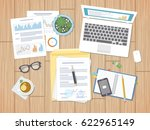 working environment  business... | Shutterstock . vector #622965149