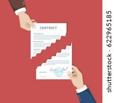 contract termination concept.... | Shutterstock . vector #622965185