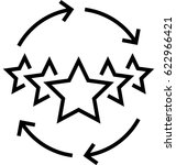 customer experience vector icon | Shutterstock .eps vector #622966421