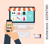 e commerce  electronic business ... | Shutterstock .eps vector #622967381