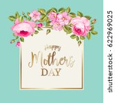 happy mothers day greeting card ... | Shutterstock .eps vector #622969025