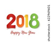 happy new year 2018. colorful... | Shutterstock .eps vector #622969601