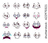 funny cartoon comic faces on... | Shutterstock .eps vector #622970321