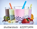 refreshing iced milky bubble...   Shutterstock . vector #622971494