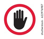 hand sign push. vector... | Shutterstock .eps vector #622976987