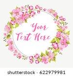 spring card with sakura flowers ... | Shutterstock .eps vector #622979981