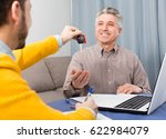 man and young manager sign... | Shutterstock . vector #622984079