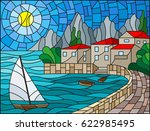 the illustration in stained... | Shutterstock .eps vector #622985495