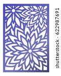 vector laser cut panel. pattern ...   Shutterstock .eps vector #622987691