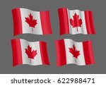 3d Waving Flag Of Canada....