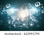 creative digital connections... | Shutterstock . vector #622991795
