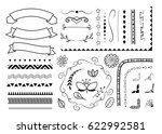 big set of decorative elements. ...   Shutterstock .eps vector #622992581