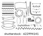 big set of decorative elements. ... | Shutterstock .eps vector #622994141