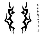 tattoo sketch tribal vector... | Shutterstock .eps vector #622995125