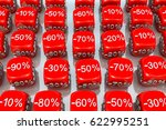 discount red box white... | Shutterstock . vector #622995251