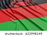 malawi flag. wavy fabric high... | Shutterstock . vector #622998149