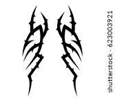 tattoo tribal vector designs.... | Shutterstock .eps vector #623003921