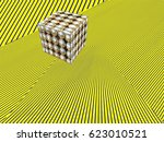 abstract modern isometric... | Shutterstock . vector #623010521